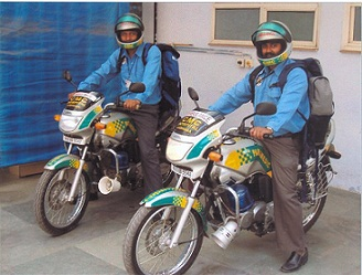 Paramedics on motobikes