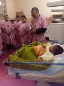 The Rev. Alex Peter dedicates the new paediatric ventilator