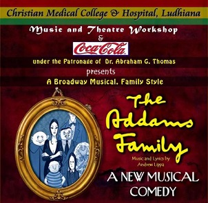 Flyer promoting the Addams Family musical