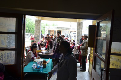 Patients at the Pangi Valley