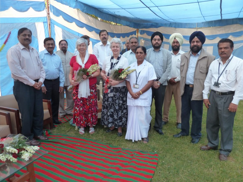 Diwali celebrations 2013 - Diane Woosley and Ursula Hyde join Diwali celebrations at Hambran Hospital, a rural hospital run by CMC